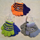 BOYS BABY/INFANT/CHILDRENS TICK TOCK STRIPED MAGIC GLOVES,1 SIZE, PACK OF 2