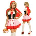 Adult Little Red Riding Hood Storybook Costume Halloween Dress Up Party Outfit