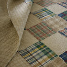 BEAUTIFUL BLUE TAN BROWN GREEN RED BEIGE BEDSPREAD COZY CABIN PLAID COTTON QUILT image