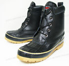 Men's Duck Boots Leather Black Thermolite Waterproof Hiking