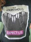 Anonymous T shirt EXPECT US! w FREE STICKERS! 4Chan Legion OCCUPY 99%
