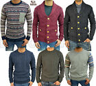 Mens Designer Bellfield Jumper Fleece Cardigan Crew Neck Knitted Stylish Sweater