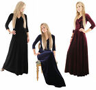 Stunning Velvet Gown Long Black - Midnight Blue - Burgundy Evening Maxi Dress