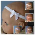 CUTE BOW BABY HEADBAND- 30mm bow- Christening, wedding, Party...