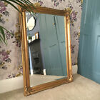 Vintage Style Beautiful 3FT FRENCH Ornate MIRROR Ivory Gold Black White Silver