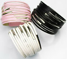 Punk Rock Leather Cuff Goth Handmade Chic Cool Bracelet Wristband Party Joint