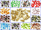 CHOOSE COLOR! 10pcs Czech Glass Pressed Spike Beads 7x17mm $4.2 USD
