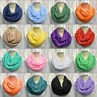 Infinity Circle Scarf women COWL Scarves Solid *9 COLORS* Jersey Stretch Unisex