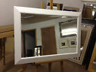 """New 3 1/2"""" Modern Shaped White wall and Overmantle mirrors - VARIOUS SIZES AVAIL"""