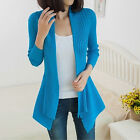 Loose Open Front Coat Long Sleeve Slim Knitted Cardigan Sweater [JG]