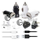 MAINS + CAR CHARGER + USB CABLE FOR HTC DESIRE/HD/WILDFIRE/ONE X/V/S/SENSATION