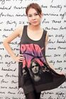 PINK FLOYD UK David Gilmour WOMEN T-SHIRT DRESS Tank Top Tunic Vest Size M L