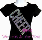 CHEER - Sequin Block Letter - Iron on Rhinestone T-Shirt - School Sports Mom Top