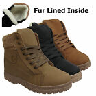 LADIES ANKLE BOOTS WOMENS HI HIGH TOP TRAINERS FUR LINED WINTER SNOW FLAT SHOES