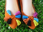 WOMEN'S FLAT CASUAL SHOES JULIA SIZE 5.5-10 ORANGE