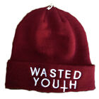 WASTED YOUTH BEANIE HAT SNAP MARRON COLOUR