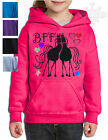 HORSE RIDING Best freinds forever HOODIE,KIDS ADULT *Sparkly Glitter* BFF 2SKH