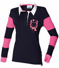 Equestrian horse riding rugby horse shoe hearts style top t shirt cross country