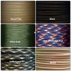 550 PARACORD 7 Strand Type III 10ft 25ft 50ft 100ft 1000ft Made in USA