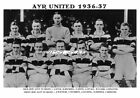 AYR UNITED F.C. TEAM PRINTS 1936-1975 (1936-37/1960/1969/1975-76)