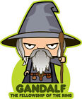 ICONZ CARTOON TEE SHIRT LOTR GANDALF LORD OF THE RINGS J R R TOLKIEN WIZARD.