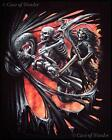 """DEATH RIDE"" SPIRAL DIRECT T-SHIRT  Unisex Gothic/Horror/Biker/Rock/Skeleton"