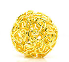 Wholesale Lots Gold Plated Hollow Twist Ball Wire Beads 18mm Dia.