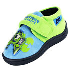 Boys Size 6 - 12 Blue Green MONSTERS UNIVERSITY Touch Fastening Slippers Inc