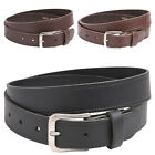 Genuine Leather Plain Belt Small to 5XL British Made, Black / Brown / Tan  White