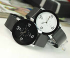 Fashion Mens Women Sport Style Quartz Leather Wrist Watch Great Gifts For Lovers