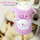 Luxury Pet Apparel- Fluffy Meow Warm Sweater Purple Small-XLarge CuteClothes