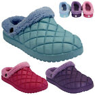 LADIES WOMENS FUR WARM SNUGG WINTER NURSE HOSPITAL CLOGS SLIPPERS SHOES MULES