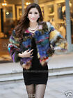 NEW!100% Real Genuine Fox Fur Coat Jacket Outwear Clothing Garment Unique Women