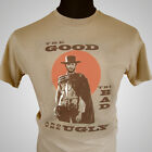 The Good The Bad and The Ugly Retro Movie T Shirt Clint Eastwood Cool Film Tee