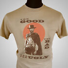 The Good The Bad and The Ugly Movie Themed Retro T Shirt Clint Eastwood Film for sale  Shipping to Ireland