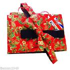 Christmas Cummerbund And Bow Tie Set Red Holly And Mistletoe