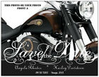 MOTORCYCLE or UR PHOTO Save the Date PERSONALIZED Flat CARDS Envelopes CUSTOM