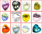 Swarovski elements Xilion Heart Pendants  6228 - Choose the Colour 28mm