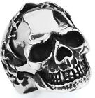 STAINLESS STEEL STITCHED HEAD SKULL RING, SIZES 10-14 R4