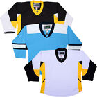Pittsburgh Penguins Hockey Jersey   NHL Style Replica   NO LOGO DJ300 $33.75 USD on eBay