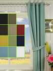 11 Colors Solid Blackout Grommet Cotton Curtain Panel with Lining Custom Made