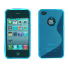 S Shape Clear Soft TPU Gel Full Case Cover for iPhone 4 4s