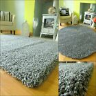 SMALL XLARGE GREY SILVER MIX THICK HEAVY SOFT QUALITY SHAGGY PILE RUG CARPET MAT