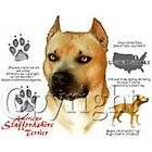New OFFICIAL AMERICAN STAFFORDSHIRE TERRIER White T-Shirts Small to 5XL