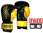 EVO Maya Leather Boxing Gloves MMA GEL Punch Bag Muay Thai Kick Boxing UFC Train
