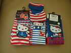 HELLO KITTY 3 pr pack of socks- GIRLS shoe size 9-12 & 12.5-3.5
