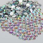 Iridescent A/B sparkling Resin Flatback Crystal Rhinestone 2,3,4,5,6MM 14 Facets