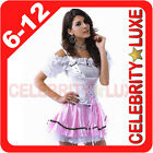 New Ladies German Heidi Beer Maid Oktoberfest Wench Fancy Dress Costume Bavarian