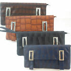 New Women Ladies Evening Clutch Bag Faux Leather Snake Design Casual Office UK