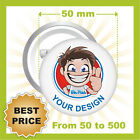 CUSTOM 50 mm BADGES , YOUR TEXT OR IMAGE, PINS / BUTTON, BEST PRICE EVER!